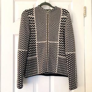 Banana Republic geometric zip up sweater